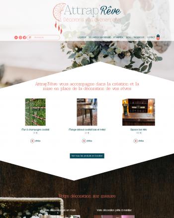 Attrap'rêve : un site réalisé avec Kerfast